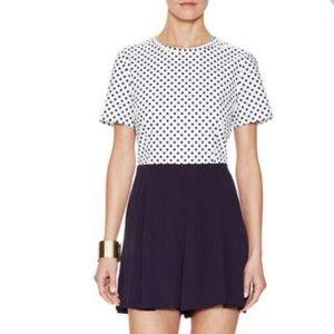 Elorie Polka Dot Cotton Short Sleeve Romper
